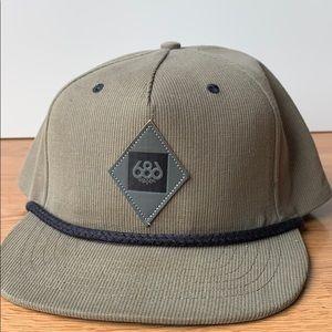 Tan corduroy 686 enterprises snapback hat